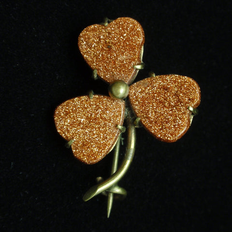 Antique Goldstone Pin