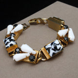 Graphic Black and White Dimensional Bracelet