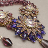 Stanley Hagler N.Y.C Necklace Vintage Purple with Art Glass