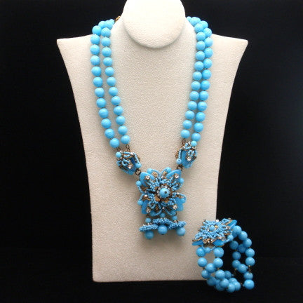 Miriam Haskell Necklace and Bracelet