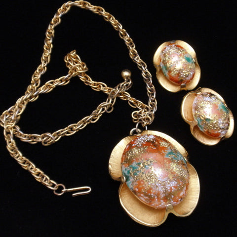 Judy Lee Easter Egg Necklace and Earrings Set
