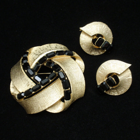 Lisner Pin and Earrings Set