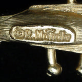 Lute Brooch Pin Musical Instrument Vintage Figural Mandle