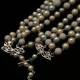 Coro 4-Strand Necklace Imitation Pearls with 4 Finishes Vintage