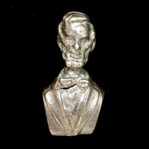 Silver Bust of Lincoln Charm