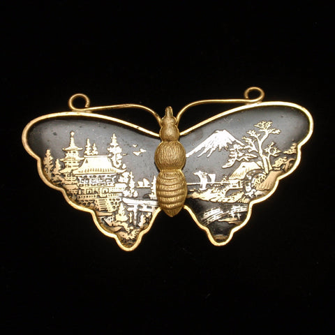 Damascene Butterfly Pin