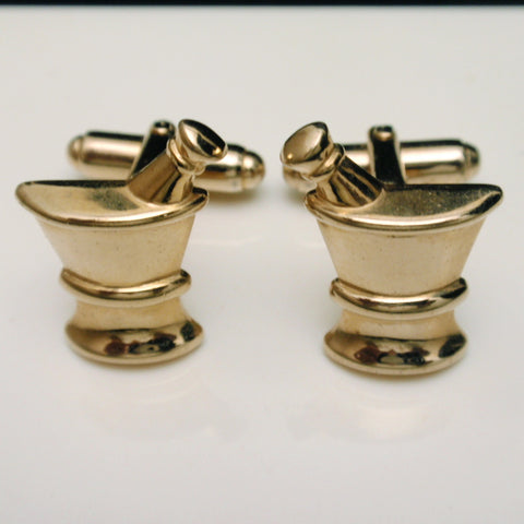 Anson Cuff Links Mortar and Pestle