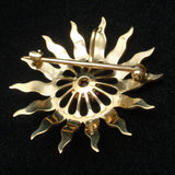 Esemco 10k Yellow Gold Starbust Pin