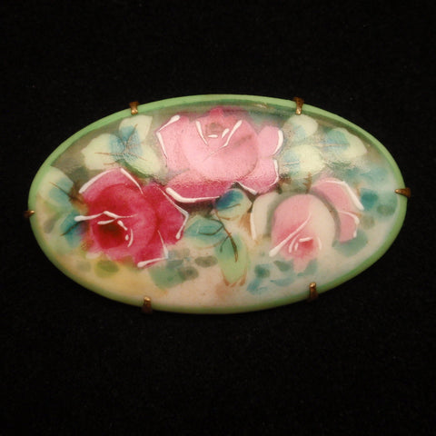 Hand-Painted Porcelain Pin
