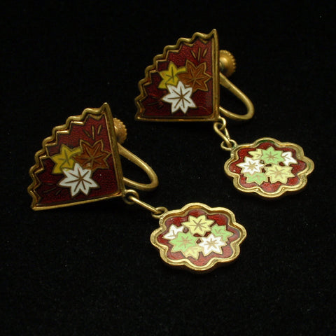 Cloisonne Earrings Japan