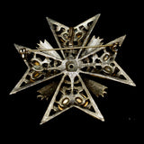 Weiss Maltese Cross Brooch Pin