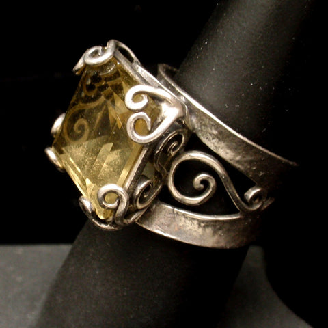 Silver and Ametrine Ring