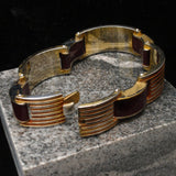 Art Deco Machine Age Bracelet France Hallmarked BF
