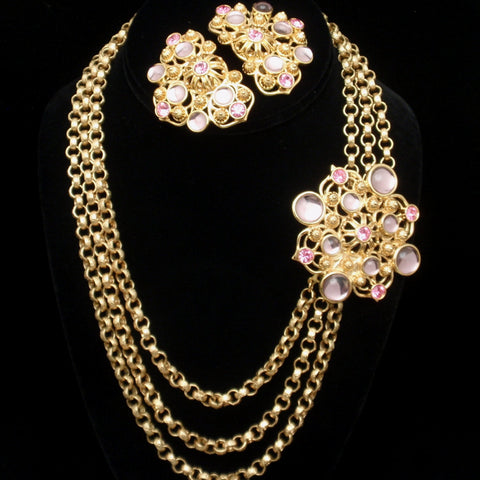 Jose Barrera for Avon Necklace and Earrings Set