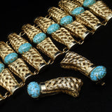 Wide Basket Weave Set Bracelet & Earrings