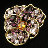 Purple Pansy Brooch Pin Nolan Miller Flower