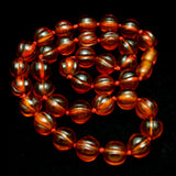 Amber Tone Beads Necklace Strand