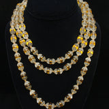 "54"" Necklace with Textured Glass Beads"