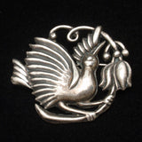 Bird Brooch Pin Sterling Silver Mexico