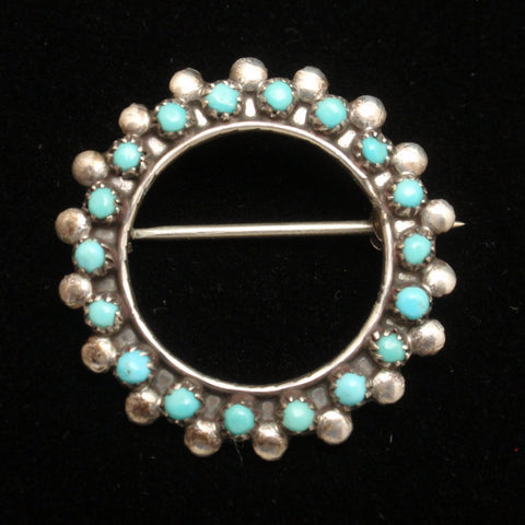 Sterling Silver Turquoise Pin