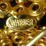 Warner Brooch Pin Earrings Set Vintage