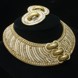 M&J Hansen Collar Necklace & Earrings 1987