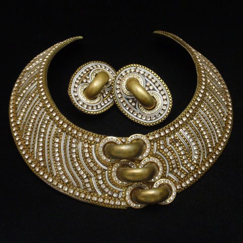 M&J Hansen Collar Necklace and Earrings