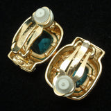 Sterling Silver Vermeil Rhinestone Earrings
