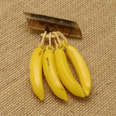 Bananas Pin Vintage Plastic Dangling Fruit Brooch