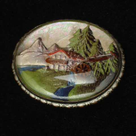 Alpine Scenic View Pin