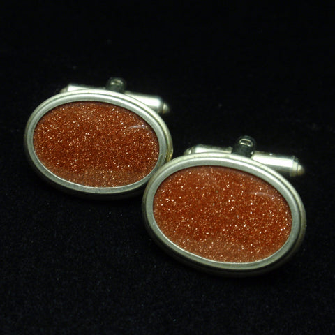 Goldstone Cuff Links