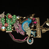 Betsey Johnson Bracelet Cactus Horse Bird Feather + Over-the-Top Statement