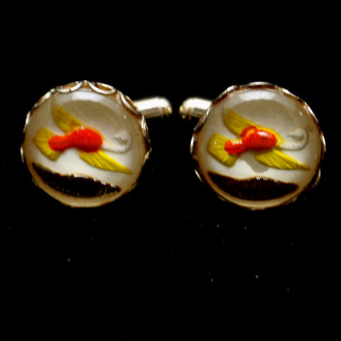 Goofus Glass Cuff Links
