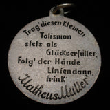 Champagne Advertising Slogan Charm MM Matheus Muller Good Luck Taslisman German