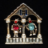 Coro Weather House Brooch