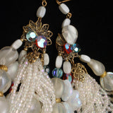 Multi Strand Vintage Necklace Specialty Glass Beads and Stones