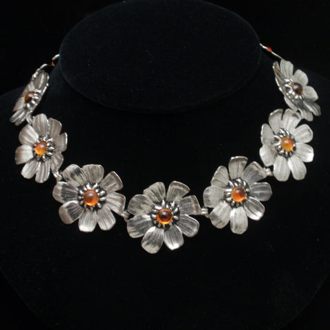 Gaylord Silver Floral Necklace