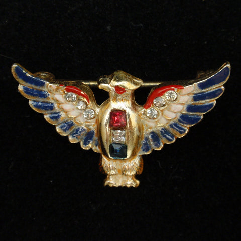 Coro American Eagle Patriotic Pin