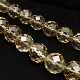 "Faceted Smoky Quartz 5/8"" Bead Necklace Vintage"