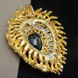 Panetta Brooch Pin Vintage Opulent Striking Optional Pendant Bail