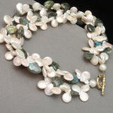 Double Strand Freshwater Pearls & Labradorite Necklace