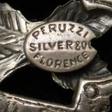 Maltese Cross Pendant Peruzzi Florence Vintage 800 Silver Sugarloaf Cab