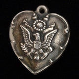 Puffy Heart Charm Great Seal of U.S. Eagle Vintage