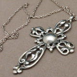 Sterling Silver Cross Pendant Necklace Vintage