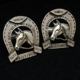 Kentucky Derby Cuff Links 100th Anniversary 1974 Aristides Vintage Toggles