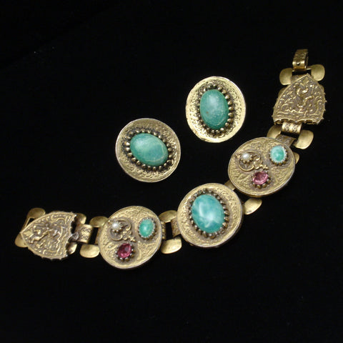 Vintage Bracelet and Earrings