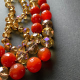 "32"" Necklace 2 Colors Faceted Glass Beads"