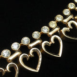 Hearts Necklace Earrings Set Vintage 1949 Alfred Philippe for Trifari pat. pend.