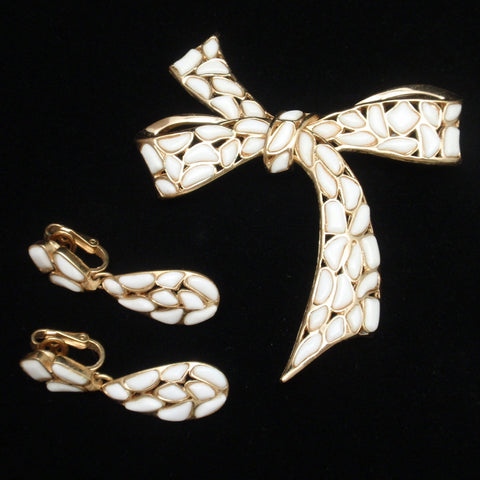 Trifari Pin and Earrings