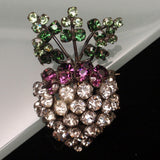Rhinestone Turnip Brooch Pin - Yep, it's a Turnip